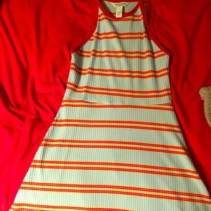 Blue Stripe Pattern Dress